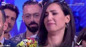 Caterina Balivo in lacrime
