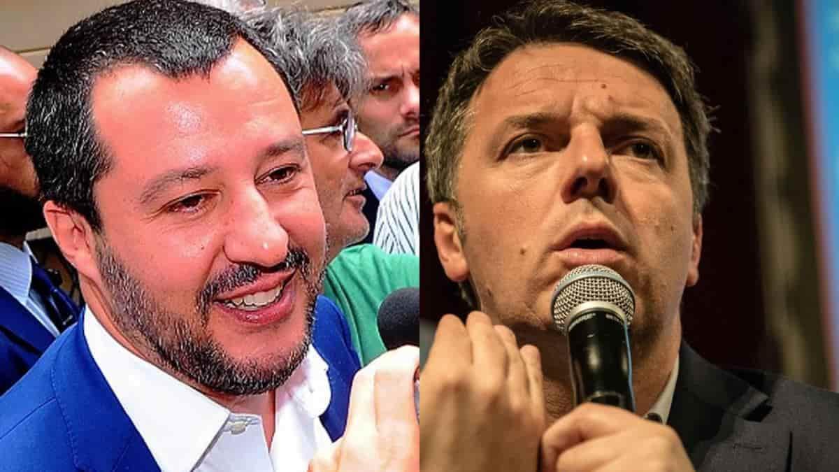 """Matteo Salvini, scontro con Matteo Renzi: """"Fra dieci anni farà il volontario ong"""""""