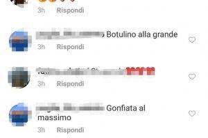 Loredana Lecciso insulti su instagram