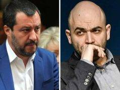 """Roberto Saviano, convocato a giudizio: """"Colpa di Matteo Salvini"""""""