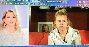 Barbara D'Urso e Anna, donna accusata di maltrattare le figlie