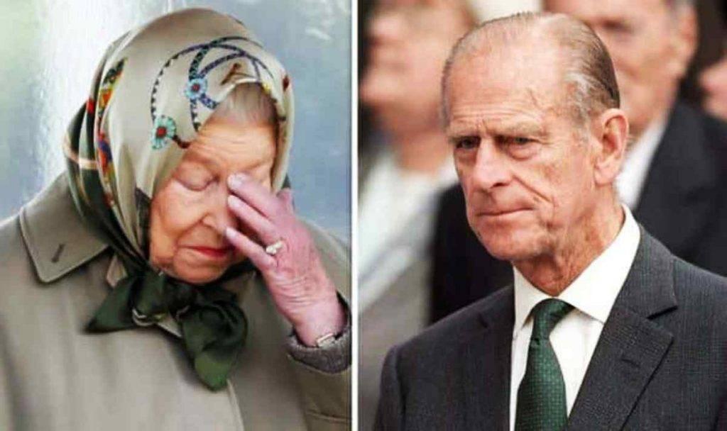 Regina Elisabetta in lacrime per il Principe Filippo