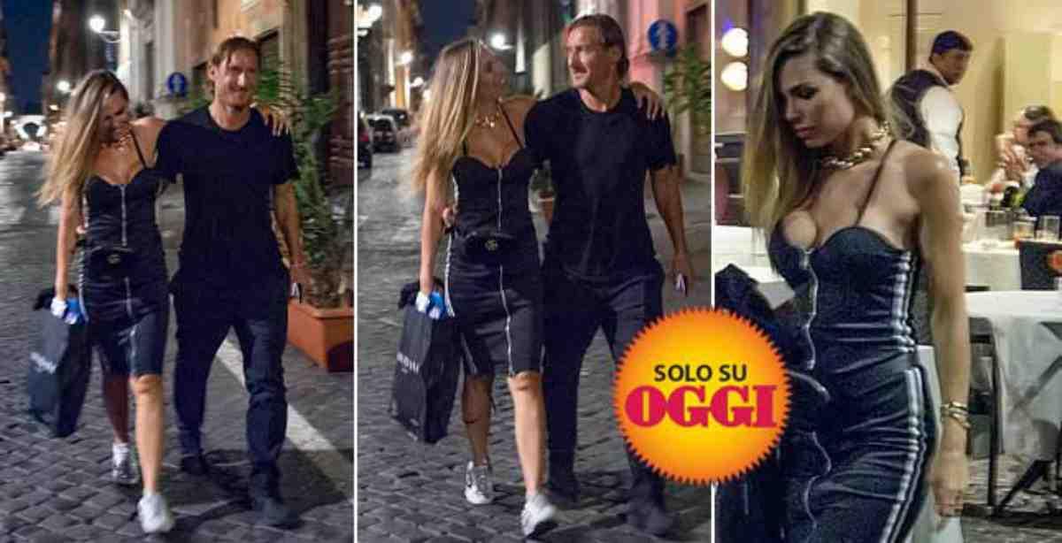 Francesco Totti e Ilary Blasi al lavoro su una sitcom televisiva