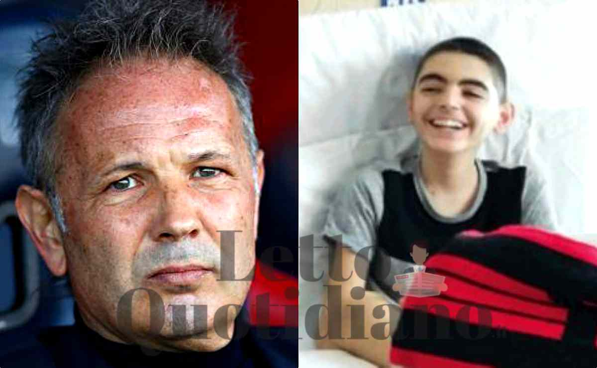 nicolò fa un appello all'allenatore Sinisa Mihajlovic, combattiamo la leucemia insieme
