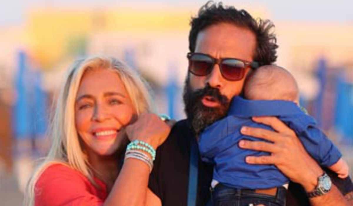 Mara Venier con famiglia
