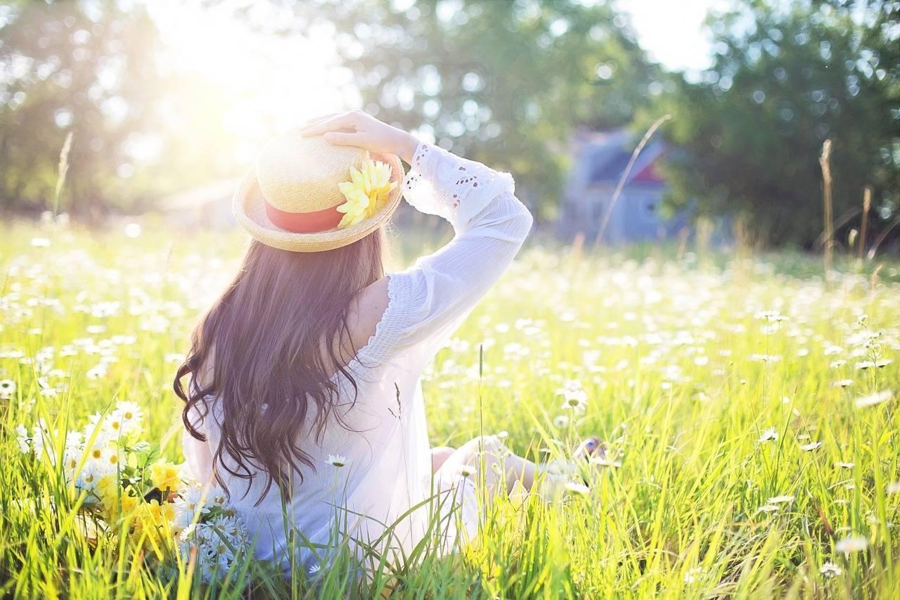 ragazza al sole