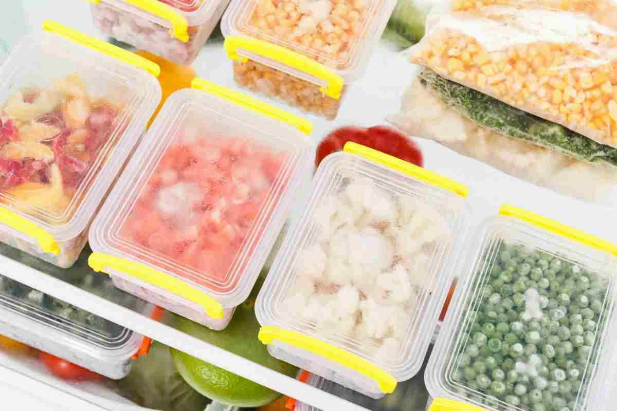 congelare il cibo