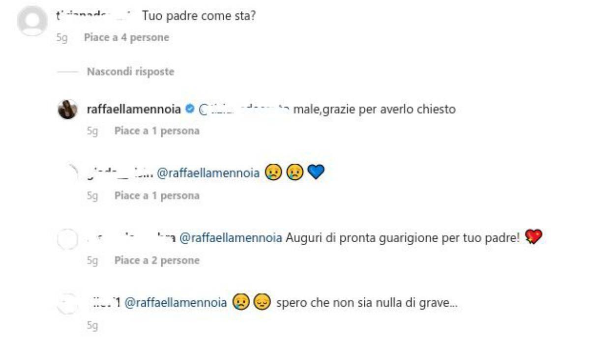 Raffaella Mennoia commenti padre