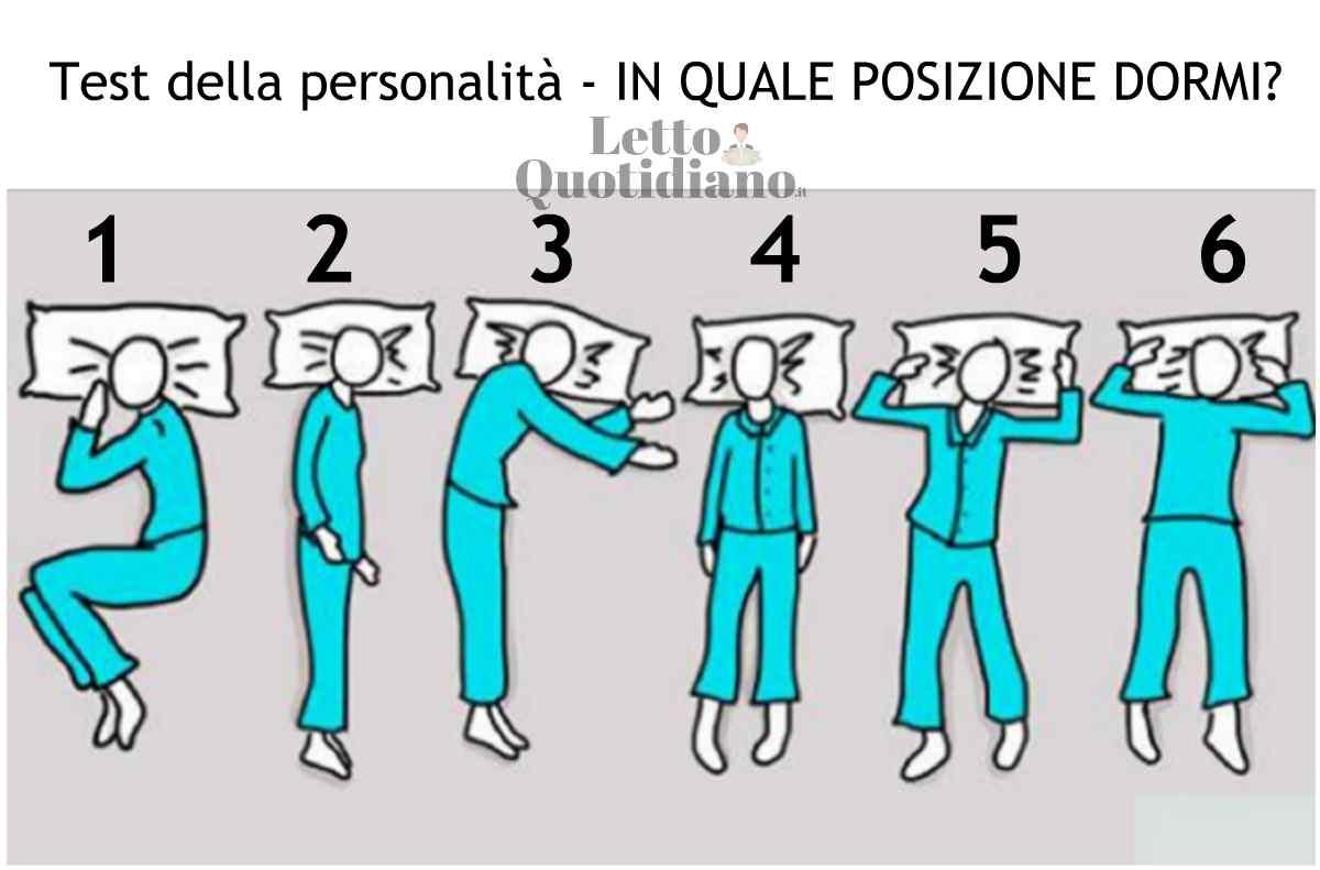 test posizione del sonno