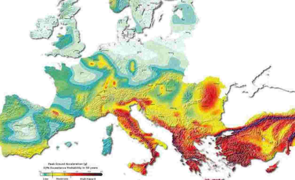 Cartina Dellitalia Zone Sismiche.Zone Sismiche Del Mediterraneo E In Europa Quali Sono Le Piu A Rischio