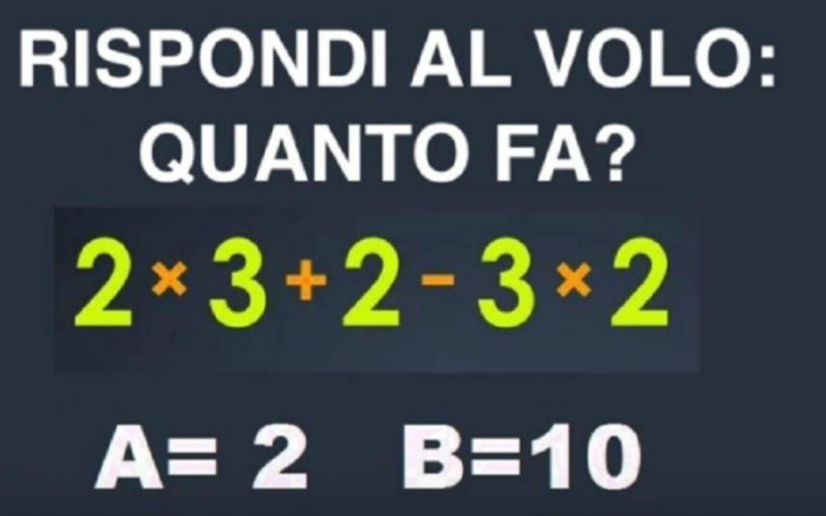 rompicapo matematico a tempo
