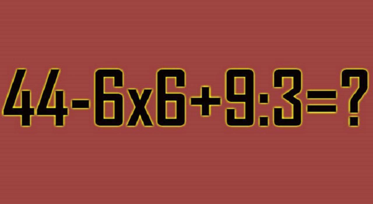 Rompicapo matematico senza parentesi