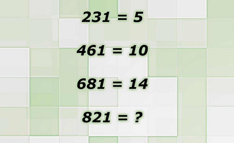 rompicapo matematico delle uguaglianze
