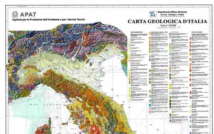 Carta Geologica d'Italia, si concretizza il progetto dopo 30 anni