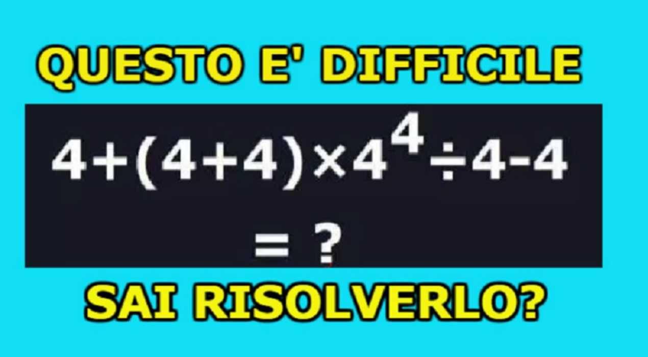 Rompicapo matematico dei 4