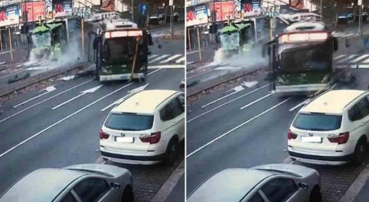 Scontro bus e camion