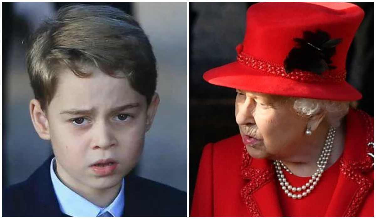 Principe George e Regina Elisabetta