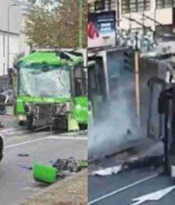 Incidente bus e camion