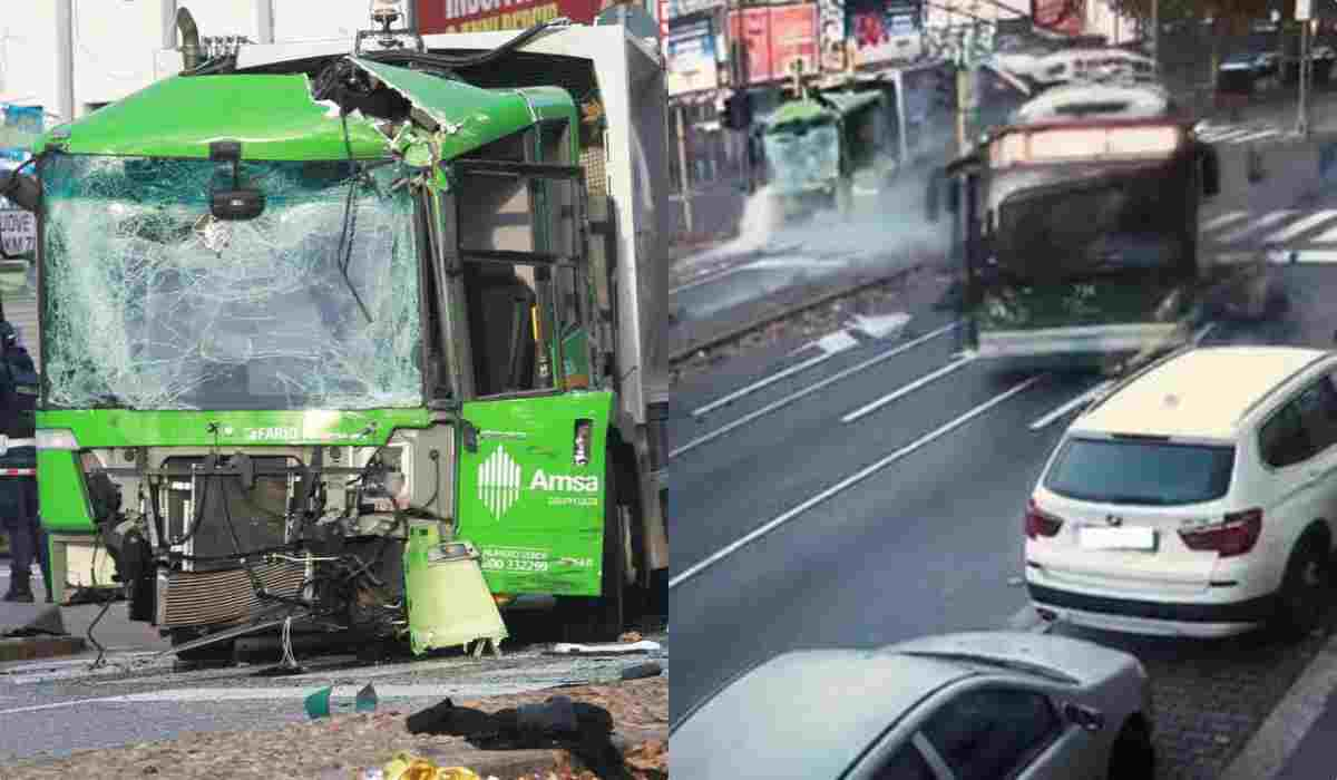 Incidente bus e camion