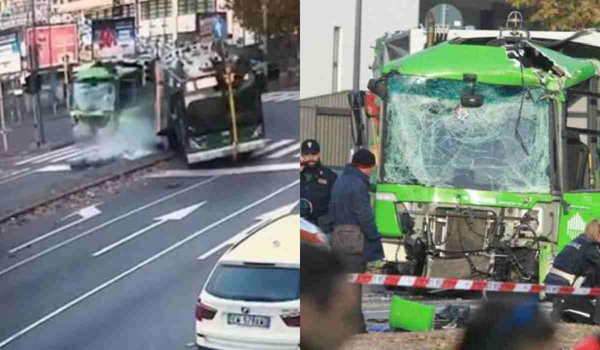 Scontro tra bus e camion