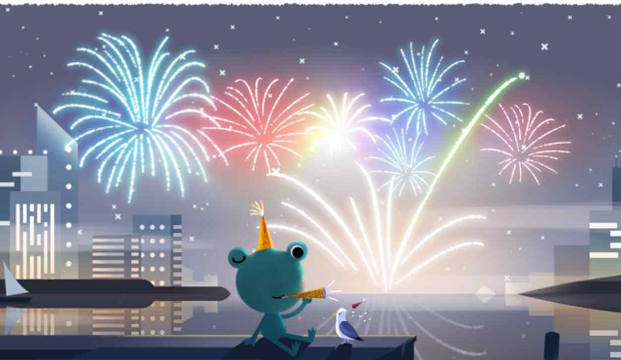 Notte di San Silvestro 2019, auguri speciali con il doodle di Google del 31 dicembre