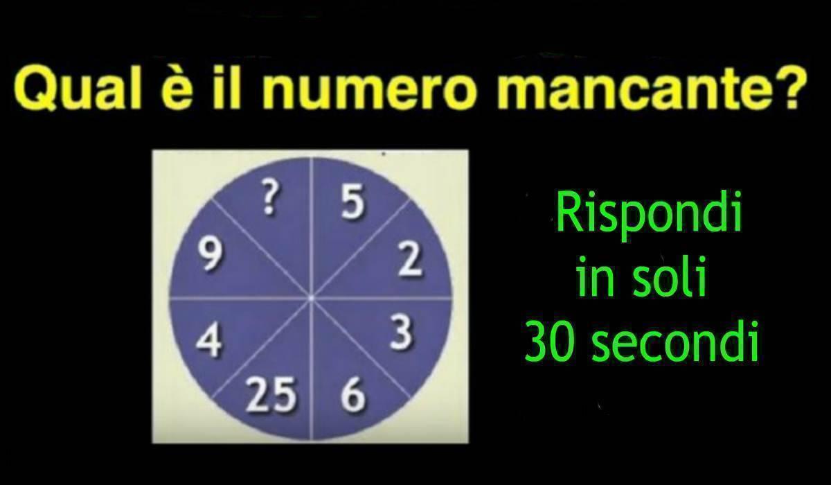 Rompicapo matematico ruota