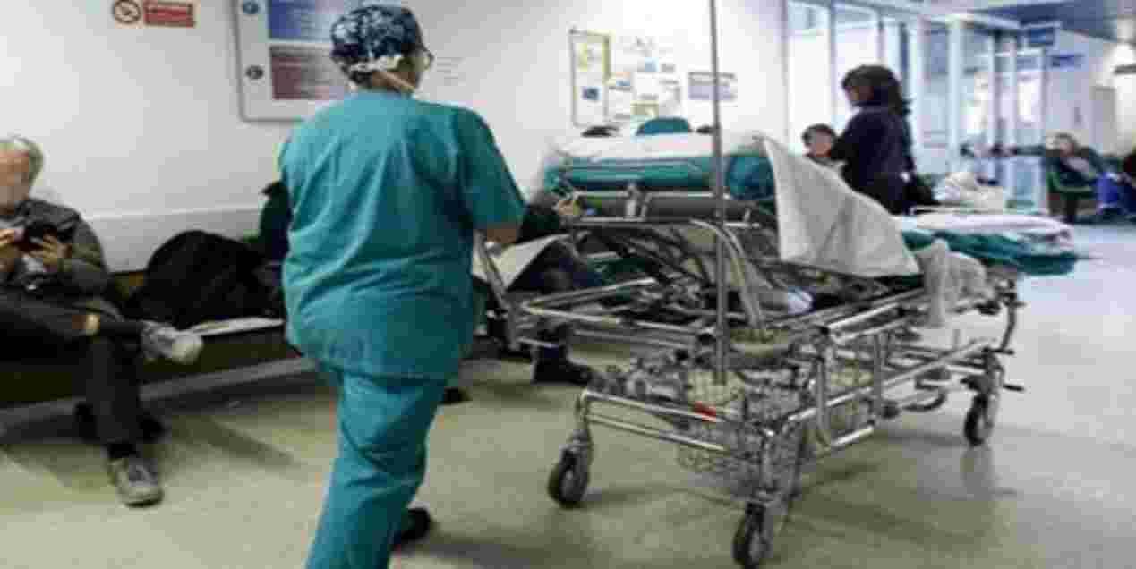 Marito in ospedale