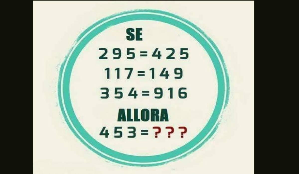 Rompicapo matematico uguaglianze