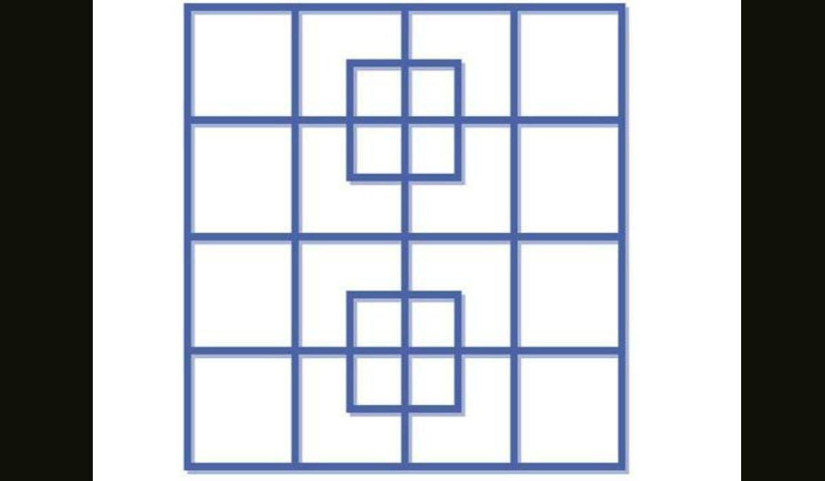 Rompicapo geometrico quadrati