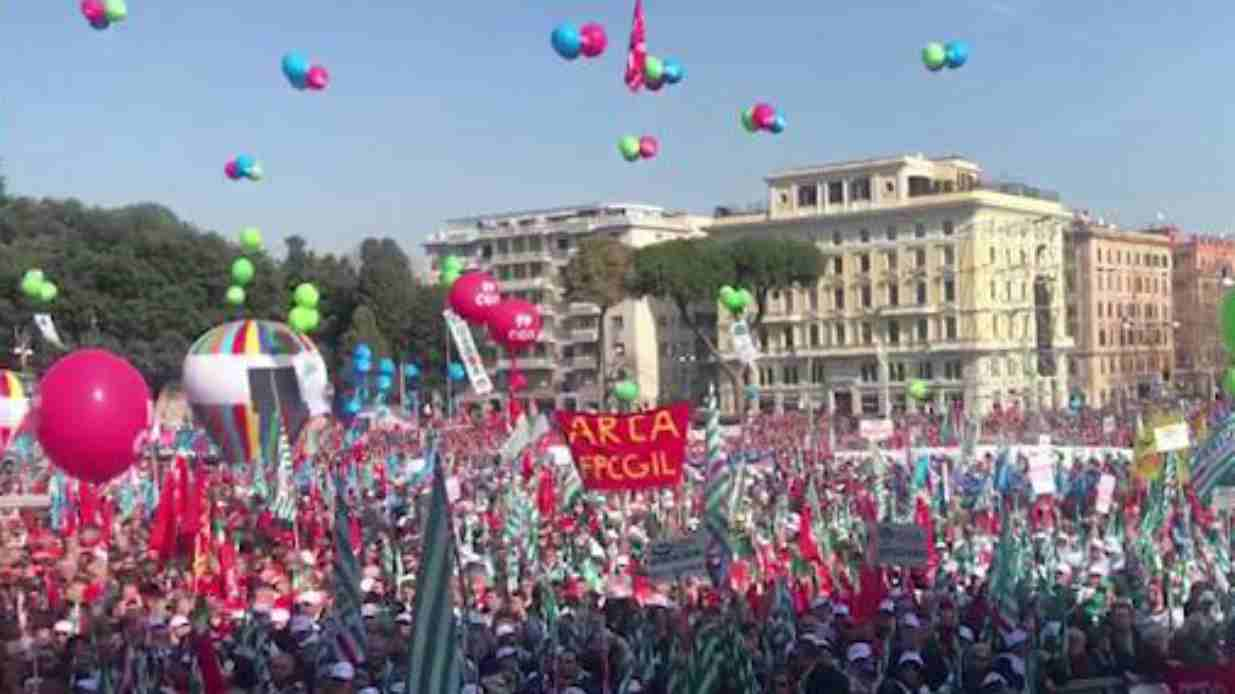 Sindacati in Piazza a Roma