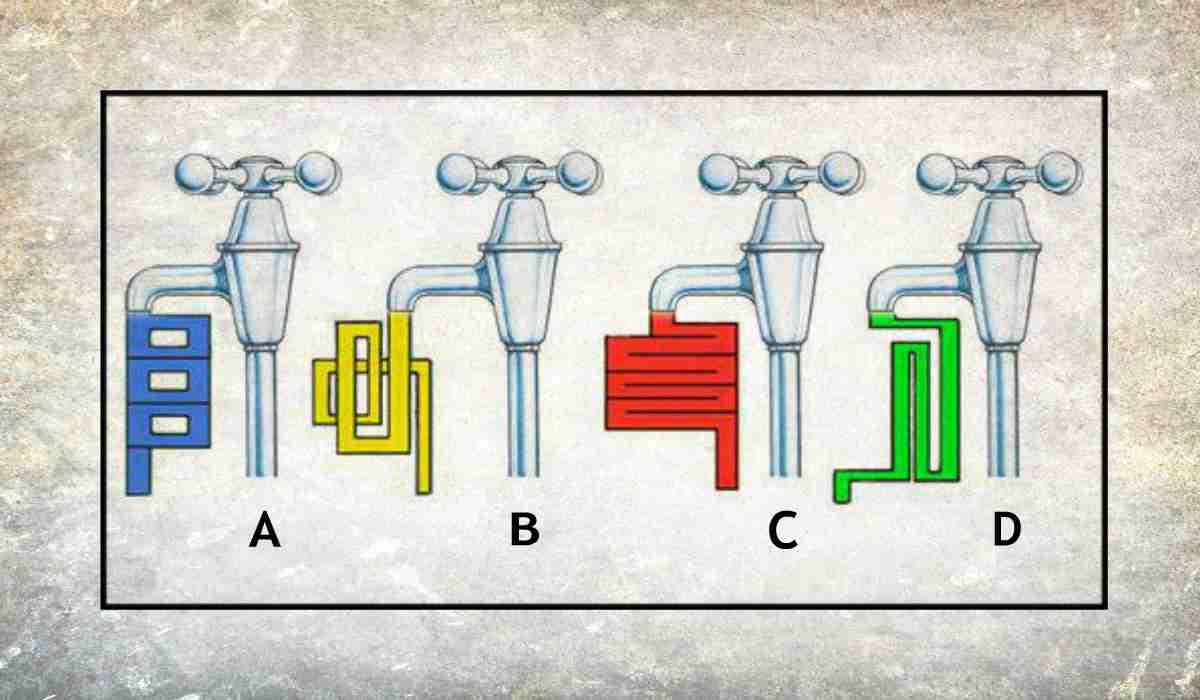 Rompicapo visivo rubinetti
