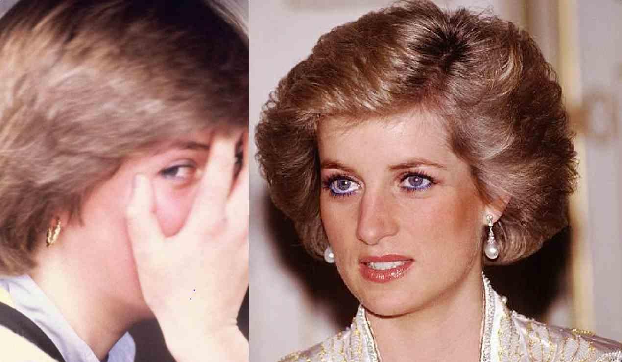 Lady Diana, pizzicata nuda dagli operai