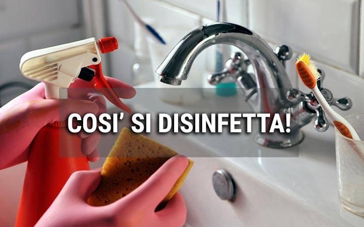 spray disinfettante per igienizzare