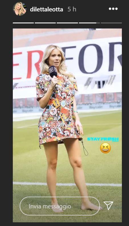 Diletta Leotta Instagram, vestito corto manda in tilt: una