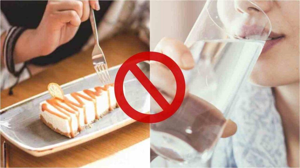 Mangiare dolci senza acqua
