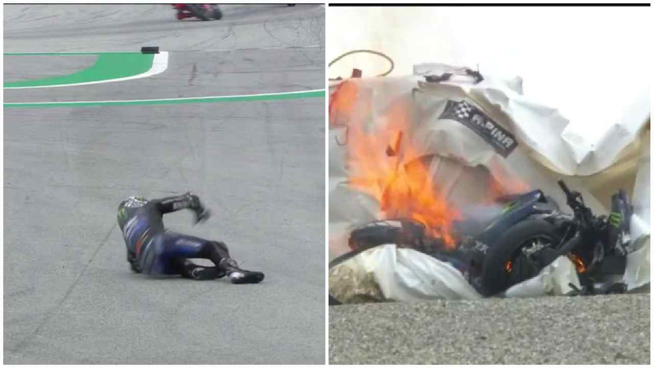MotoGP. caduta di VInales