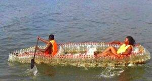 Le EcoBoat, in Camerun il riciclo creativo delle bottiglie di plastica