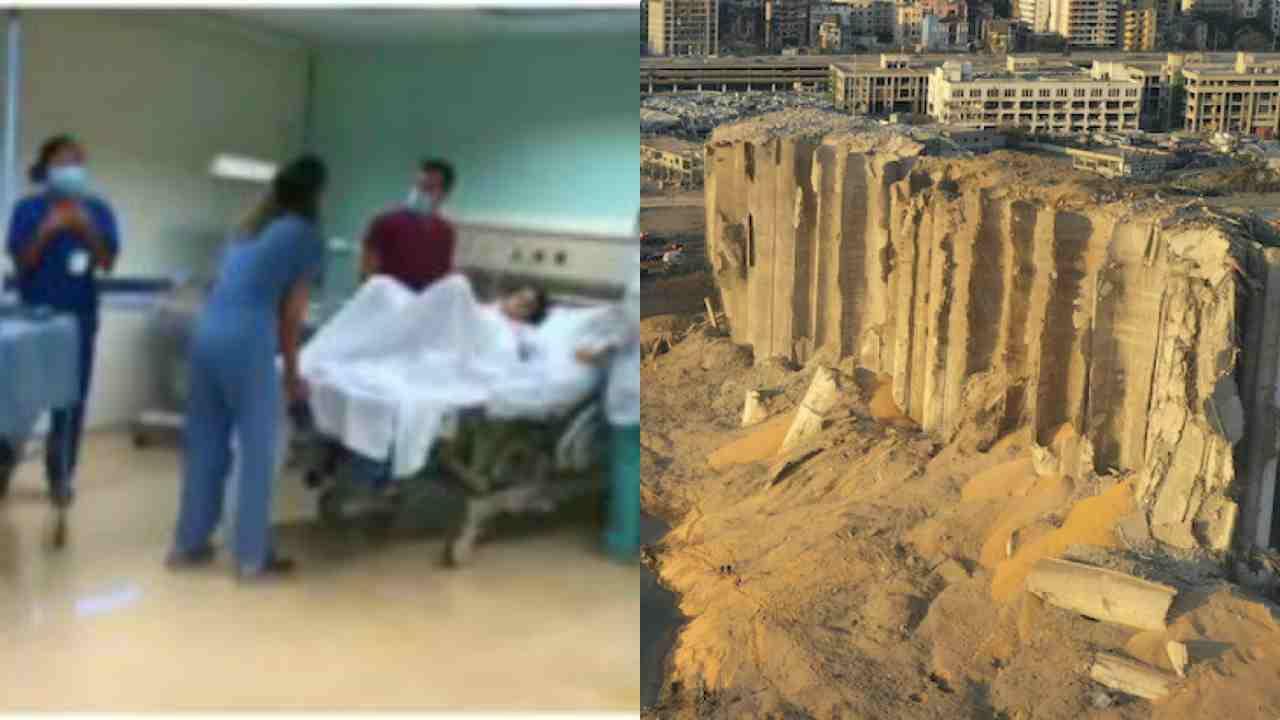 Beirut, parto durante esplosione