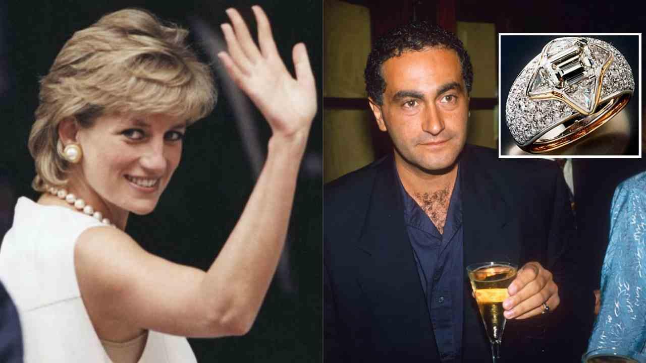 Lady Diana Dodi al-Fayed anello