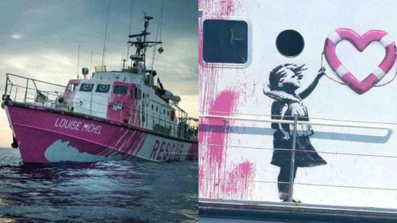 Nave Ong Banksy lancia sos migranti