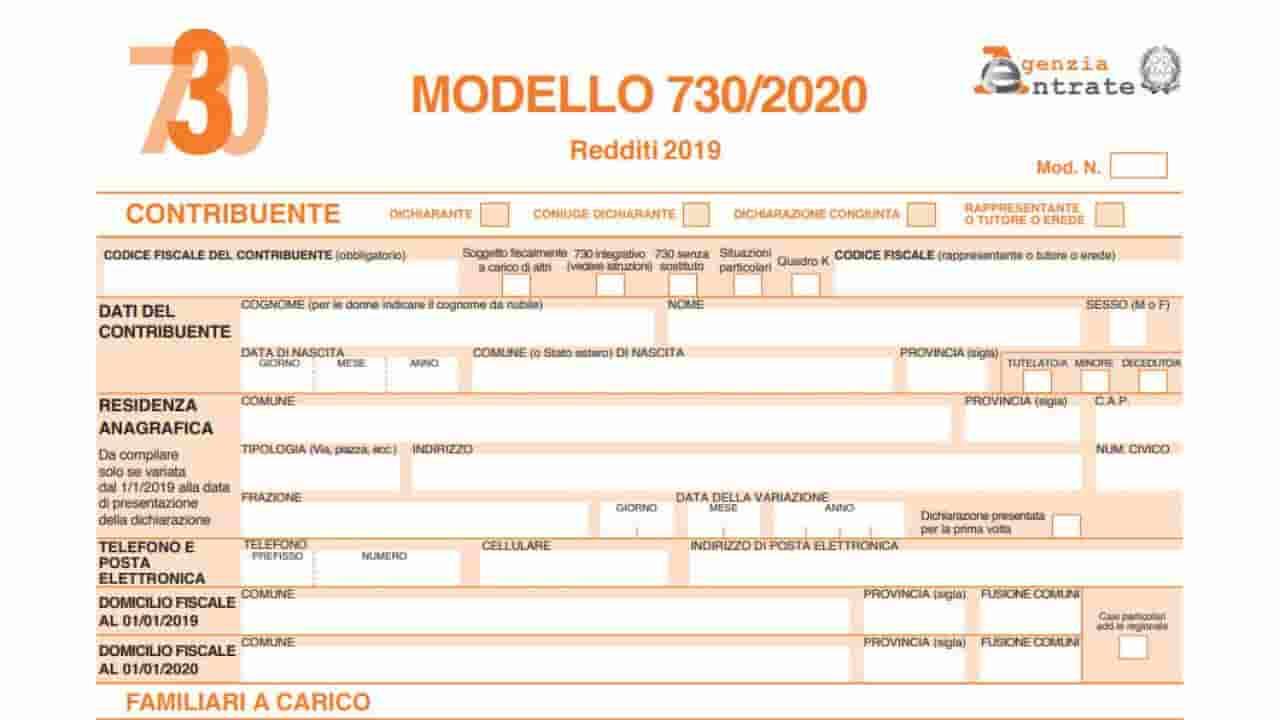 Modello 730/2020