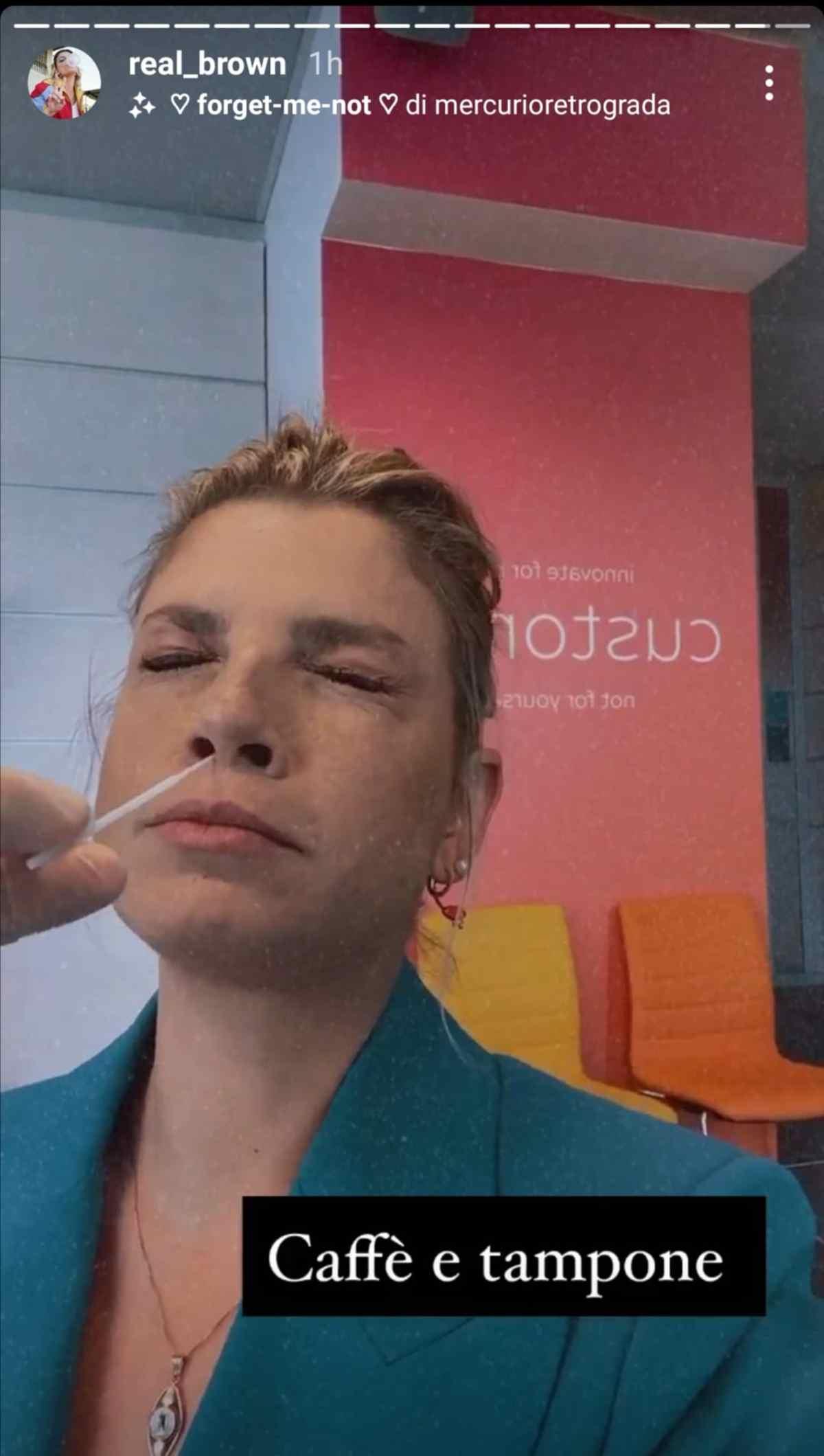 Emma Marrone tampone