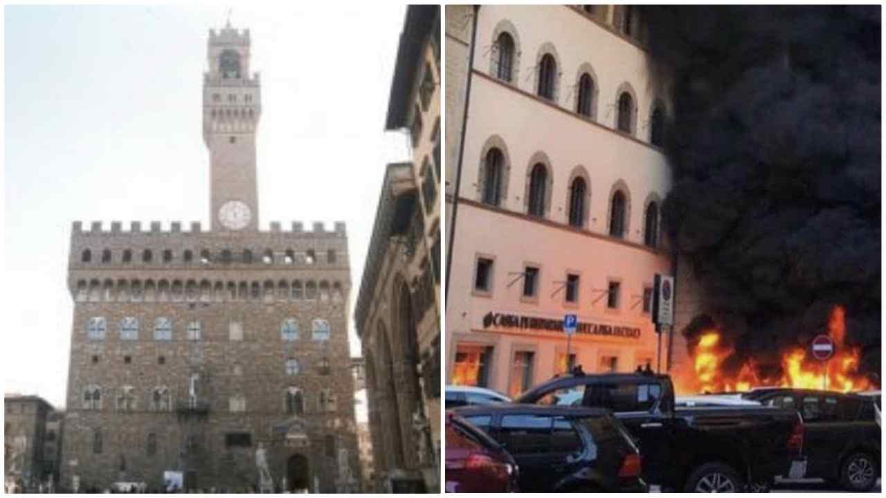 Firenze, incendio appiccato da adolescenti