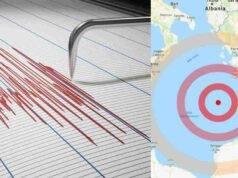 Forte scossa nel Mediterraneo