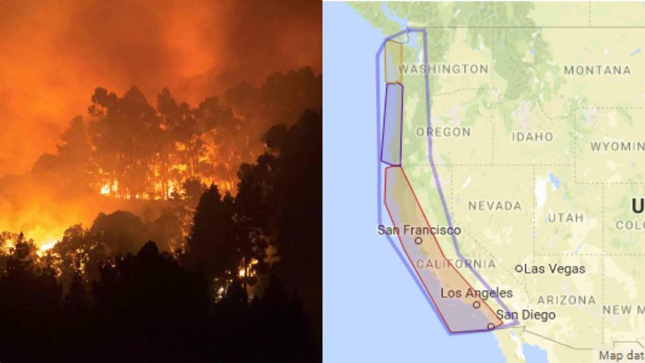 West Coast incendi