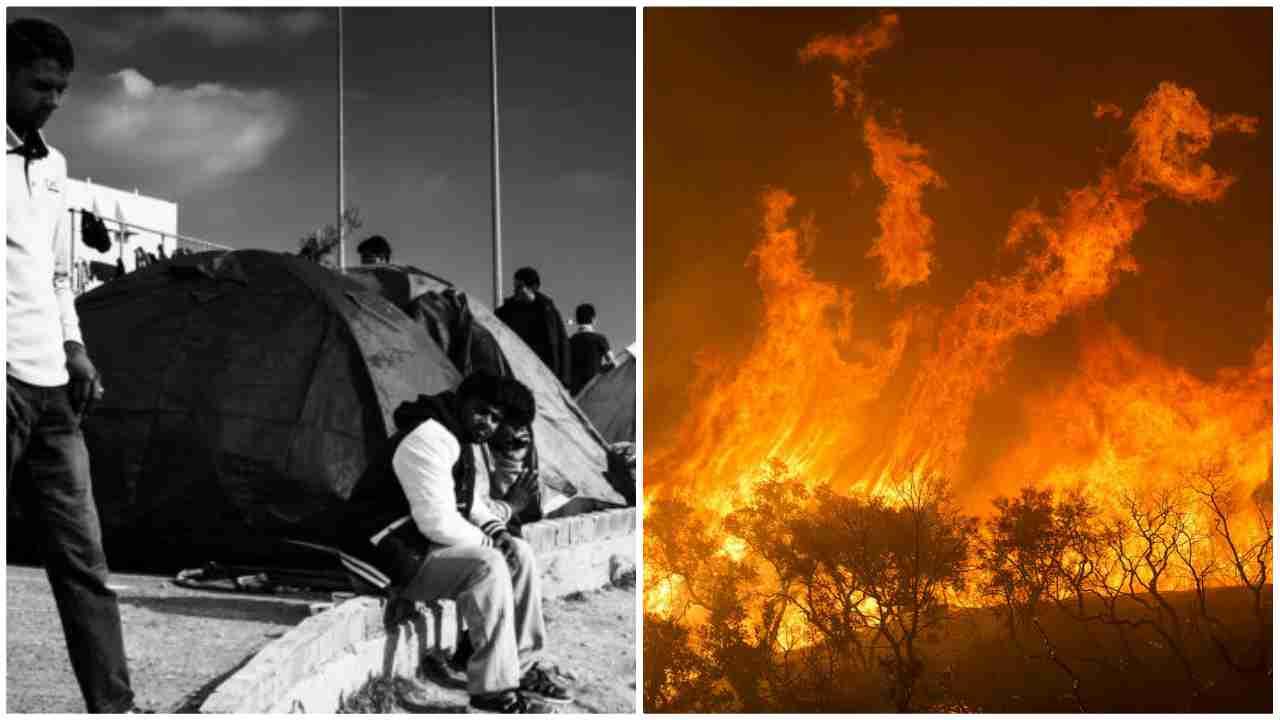 incendio campo profughi lesbo