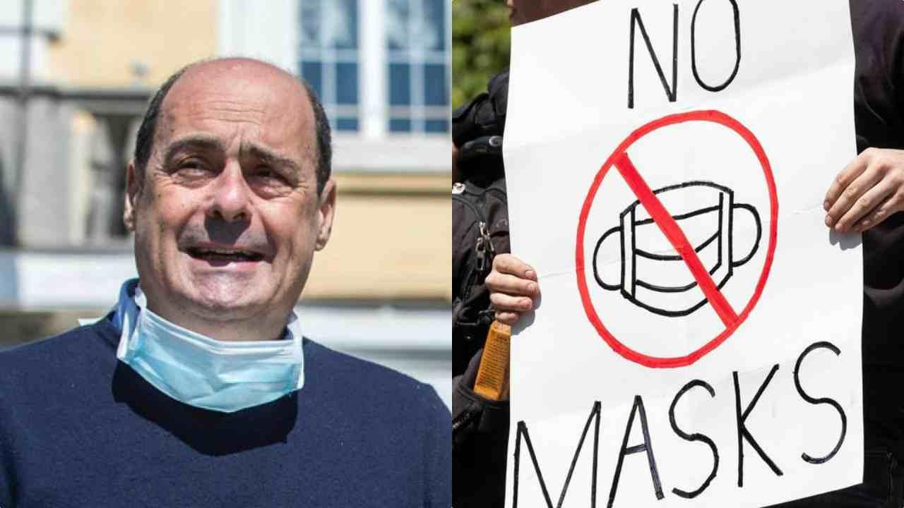 Zingaretti condanna manifestazione negazionisti a Roma
