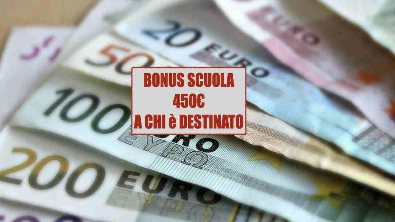 Bonus Scuola 450€