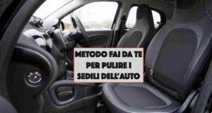Metodo fai da te per pulire sedili auto