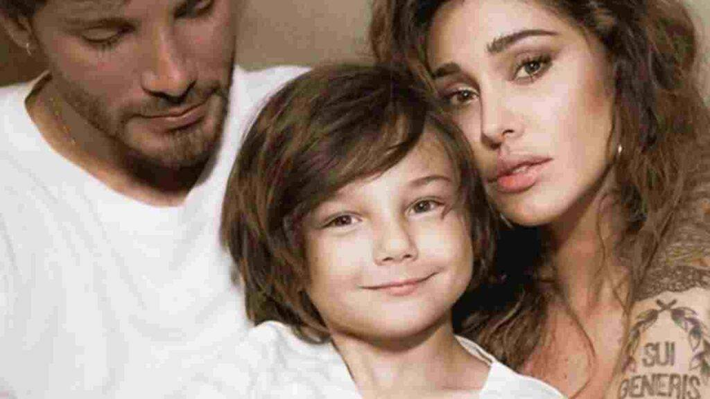 Belen Rodriguez, il figlio Santiago e il No de La Scala